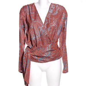 Zara metallic wrap sweater
